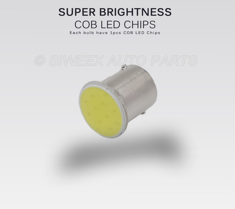 Image 2 - Super White COB P21W 1157  Led 12SMD 1156 BA15S 12V Bulbs ICE BLUE RV Trailer Truck car styling Light parking Auto led Car Lamp-in Car Headlight Bulbs(LED) from Automobiles & Motorcycles