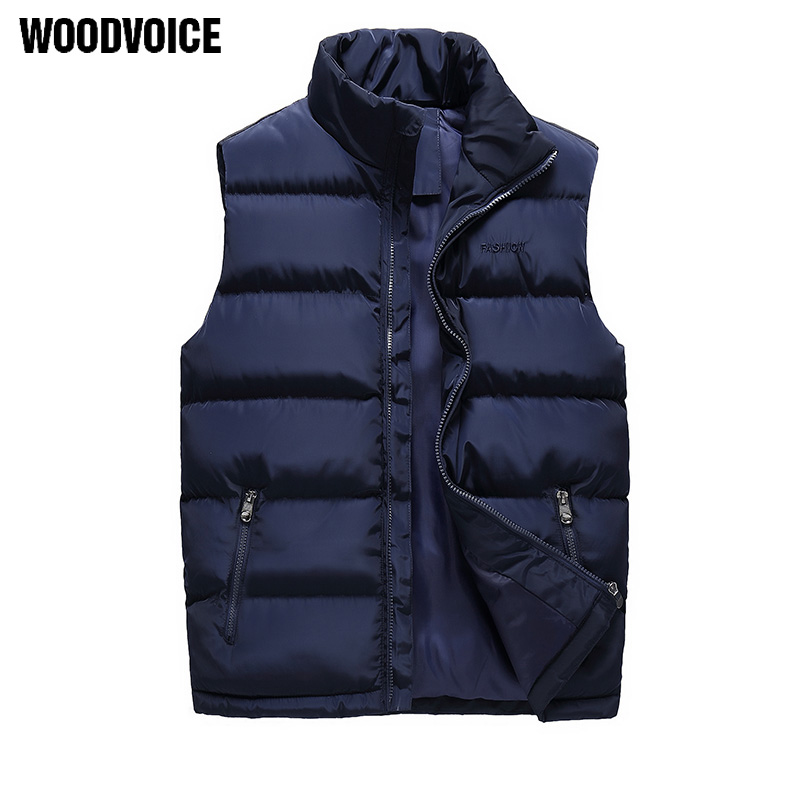 Vest Men Fashion Autumn Winter Jacket Waistcoat Male Sleeveless Waterproof Mens Coat Overcoat Thicken Warm Vests Plus Size M 6XL