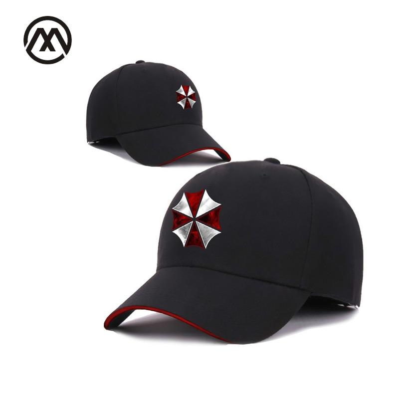 New Products Resident Evil Umbrella Company Hat   Baseball     Cap   Alternative Clothing Zombie RPG Outdoor Shade Sports Hats fashion