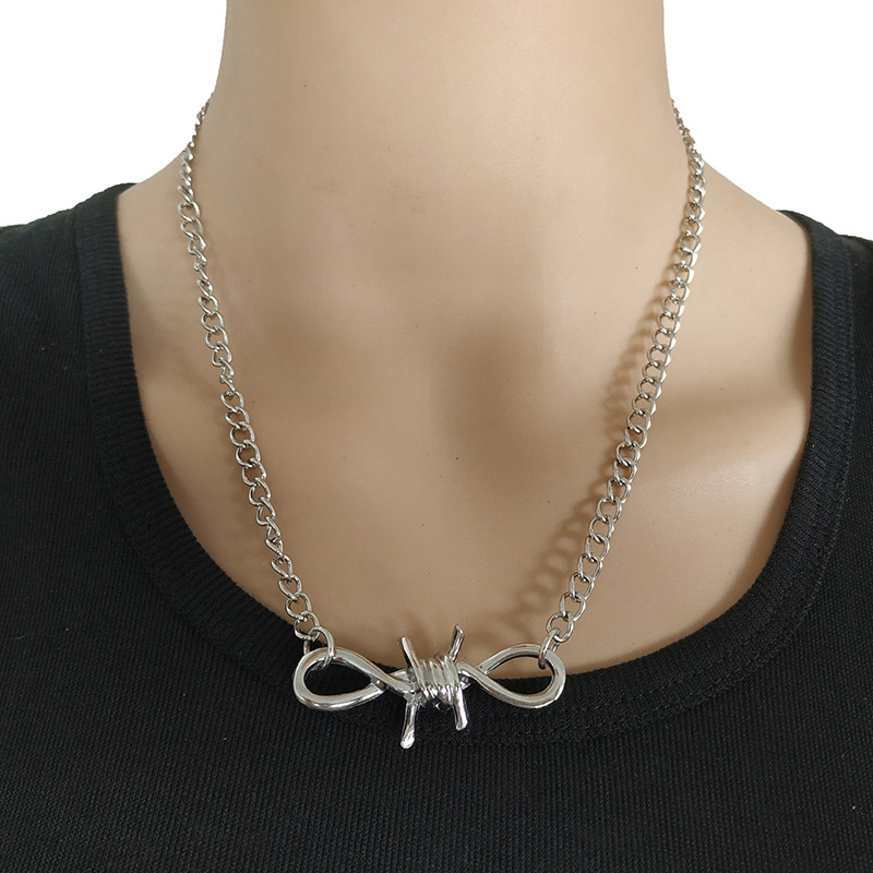 Cool Handmade Silver Chain Choker Necklace Collar Statement Punk Chunky for Women Girls Jewelry