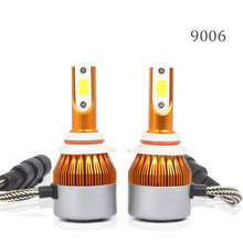 IP67 2pcs Replacement High/Low Beam Part Lamp Bulb LED COB Conversion Kit Aviation Aluminum 9006 80W 6500K Set(China)
