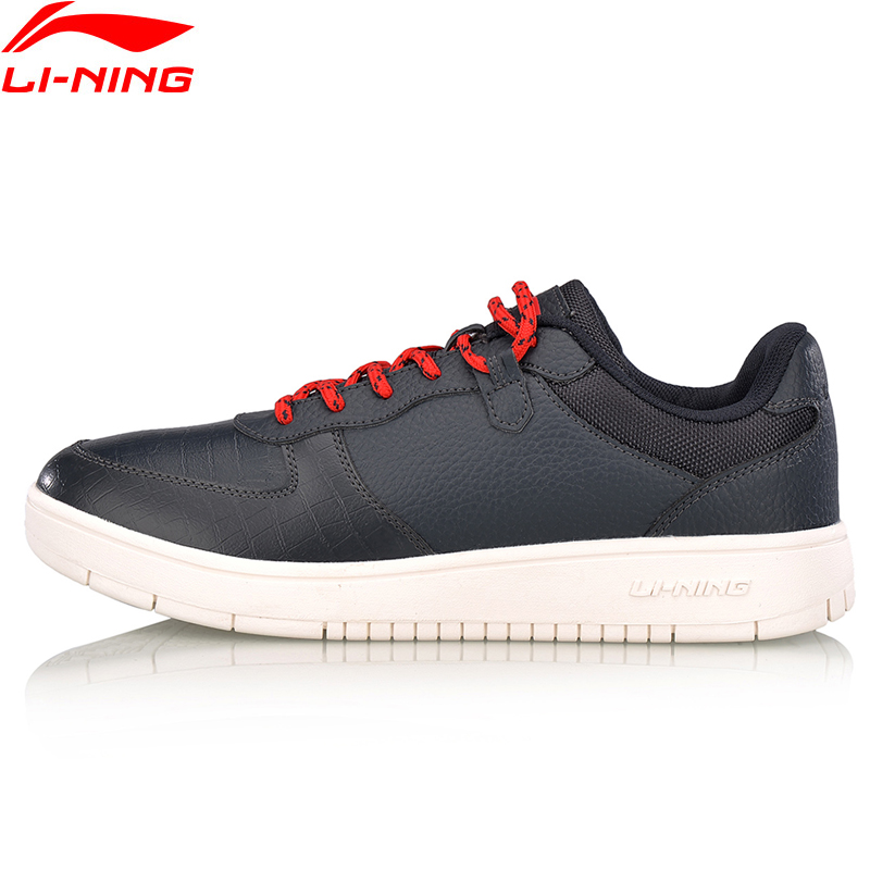 Li-Ning Men Shoes LN Justice The Trend Walking Sport Classic Wearable Anti-Slippery Sneakers Li Ning Sports Shoes AGCM045 li ning women gel knit classic walking shoes wearable anti slippery sneakers mono yarn lining sports shoes agln044