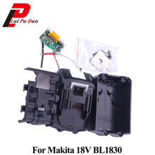 BL1830 PCB Circuit Board With Li Ion Power Tools Battery Case Replacement For Makita 18V BL1840 BL1850 LXT400 Plastic Shell