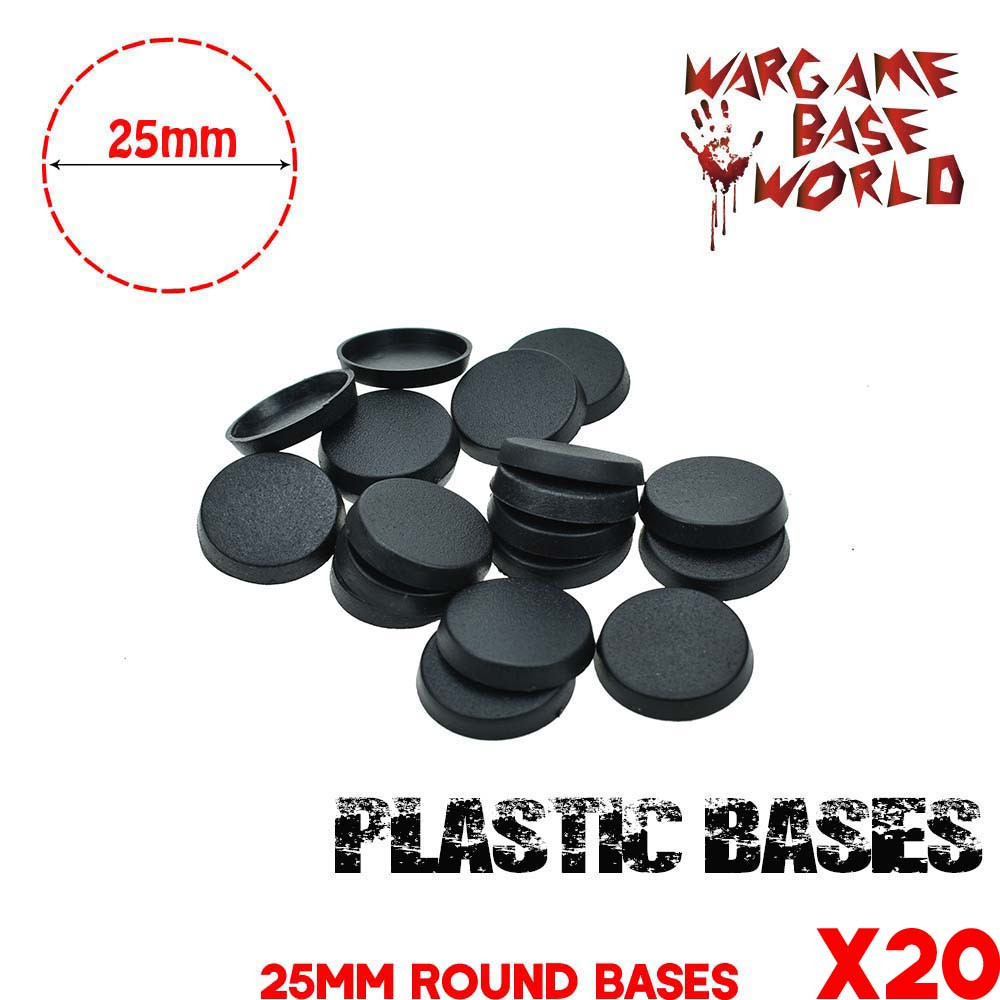 20PCS 25mm Round Bases For Gaming Miniatures Plastic Bases