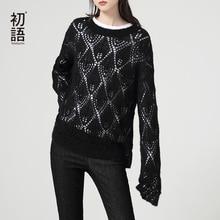 Sleeve Women Knitted Hollow