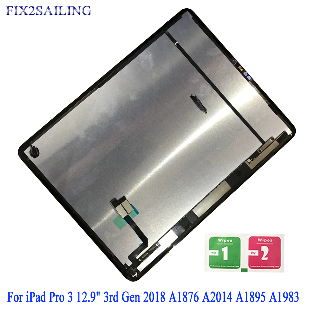 LCD For Apple iPad Pro 3 12.93rd Gen 2018 A1876 A2014 A1895 A1983 LCD Display Digitizer Sensors Assembly Panel Replacement