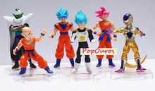6pcs/lot PVC Classic Anime Dragon Ball Z GT Gokou/Piccolo/Frieza/Vegeta Action Figures Dragon Ball Super Saiyan Goku Toys