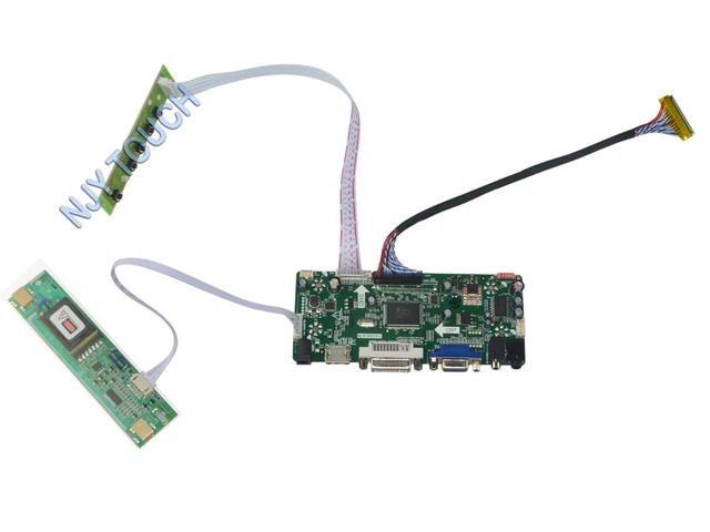 M. NT68676.2A HDMI DVI VGA Placa Controladora de Áudio LCD Universal para 18.5 polegadas 1366x768 M185XW01 V0 2 LVDS CCFL Monitor de Kit