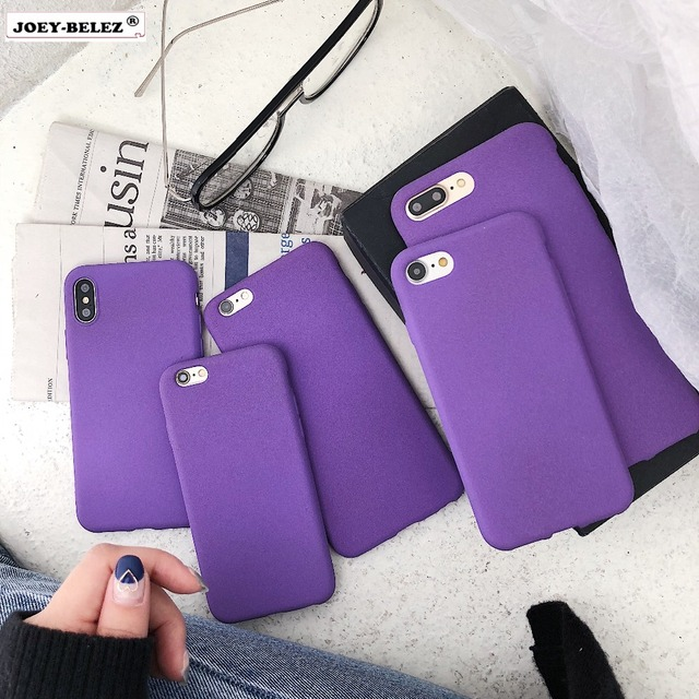 info for 98a73 0c36e US $1.31 12% OFF|Purple Color Case Soft TPU Cover For iphone 7 8 7/8 plus  Case Ultra thin Silicone Phone Cases For iphone 6 6S Plus X Matte Capa-in  ...