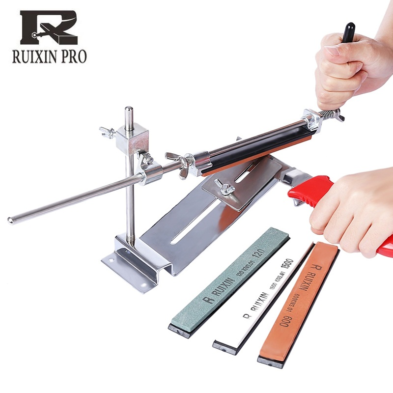 RUIXINPRO III Knife Sharpener Professional Iron Steel Kitchen Chef Sharpening System Tools Fix angle With 4