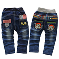 Free shipping 2017 spring autumn boys cotton Cartoon jeans,cool boy pants, children's clothing, child denim trousers 1-4 years