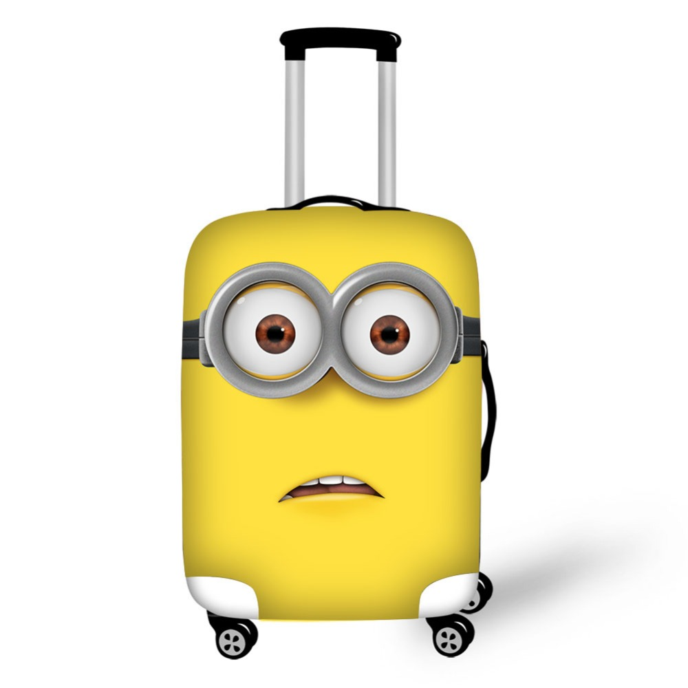 Despicable Me Design Luggage Protective Cover For 18-32 Inch Case Minions Suitcase Cover With Zipper Thick Elastic Cover