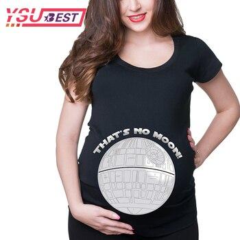 efb51eac7 Verano 3D impresión embarazada maternidad camisetas mujeres Casual ropa de embarazo  para mujeres embarazadas moda mujer Gravida Vestidos de algodón