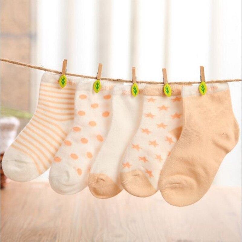 Chaussettes en coton pour nouveau-né, courtes pour fille et garçon, 10 pièces/lot = 5 paires
