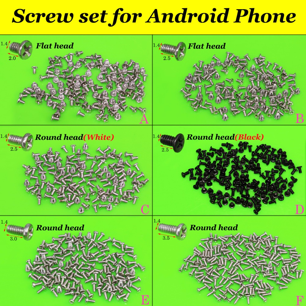 YuXi New M1.4 Cell Phone Screws Set For Android Phone