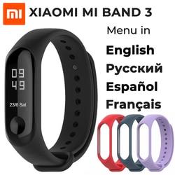 En STOCK 2018 nouveau Bracelet intelligent Xiao mi Band 3 Original, 0.78 pouces OLED Message instantané identification de l'appelant prévision météo mi Band 3