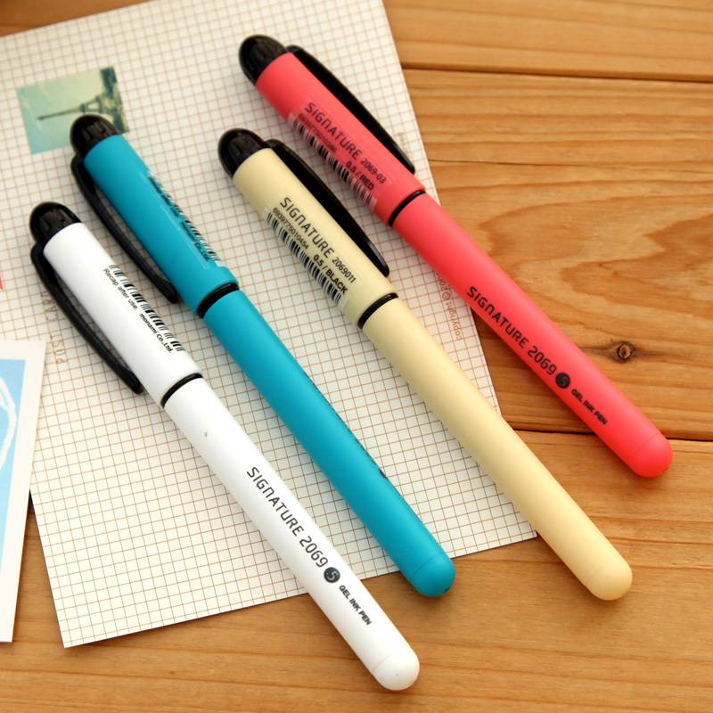 48 pcs/Lot Gel ink pens for signature writing Office supply School Stationery Caneta material escolar papelaria