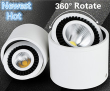 New 360 degree Rotating COB LED Downlight 7W 12W 20W Spot Led Light Surface Mounted Ceiling Lamp Free Shipping