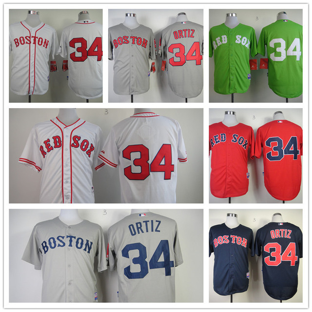 Free Shipping Cheap Mens Throwback New Baseball Jersey Boston Red Sox 34 David  Ortiz Jersey Best Quality Stitched Logo Wholesale bf9476162ef
