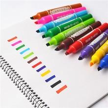 שני Nids מארק בטוש בלתי מחיק עט שורת וו שטף כתיבה בהיר צבע לא לדעוך משרד בית הספר לסטודנטים
