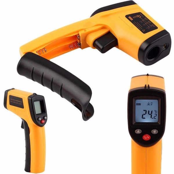 Бесконтактный цифровой ЖК-инфракрасный пистолет-термометр ИК лазерная точка тепловое инфракрасное изображение измеритель температуры ручной пирометр