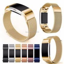 Milanese Loop Bracelet Stainless Steel Watch Bands For Fitbit Charge 2 Strap