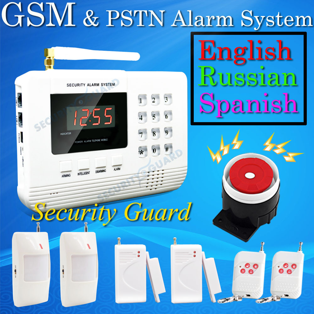 Hot Selling Free Shipping  wholesale Wireless  PSTN GSM Alarm System 433MHz Home Burglar Security Alarm System 2-11 2015 new free shipping hot wireless gsm alarm system 433mhz most popular white wireless keyboard for home burglar security alarm