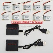 JJRC H8 Mini 3.7 V 150 Mah Li-po Batterie Pour RC Drone Quadcopter Pièces De Rechange durables 6 pcs Ou 12 pcs Avec 5 en 1 Usb chargeur