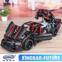XINGBAO 07003 The 2015 Assassin X19 Set MOC Technic Car Series Building Blocks Bricks Car Model Kids Toys Funny Christmas Gift