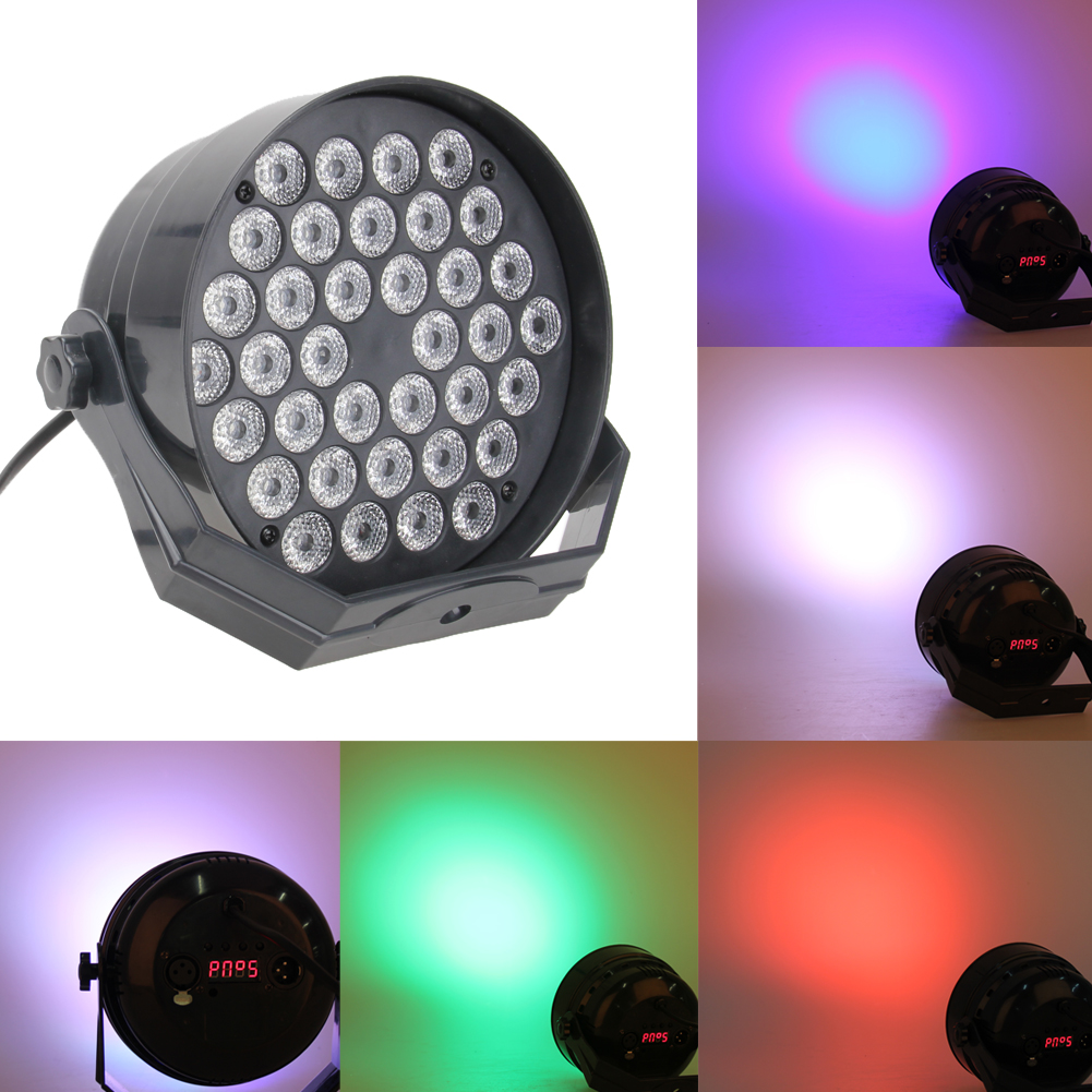 72W 36 LED RGB Christmas Laser Projector Stage Light 6CH DMX Disco DJ Club Wedding Party Decoration Light retail new led stage light full color e27 big adjustment dj party wedding club projector ac 85 265v free shipping