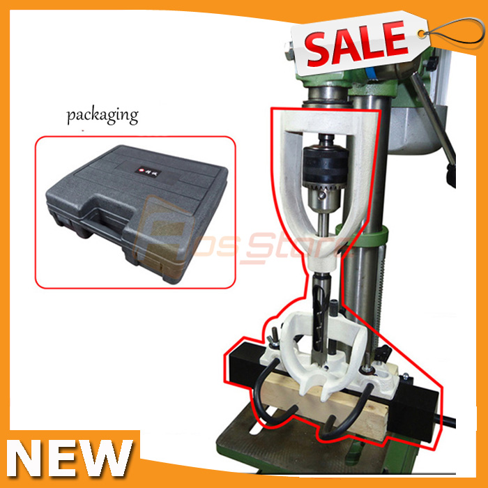 Locator Set of Bench Drill for Mortising Chisels with 4 Bits for Tenoning Machine Woodworking Square