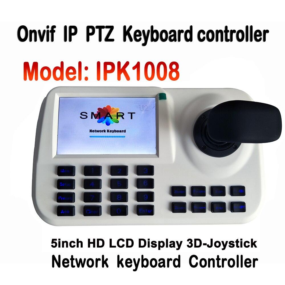 5 pulgadas LCD ONVIF IP CCTV Red PTZ Mini controlador de teclado para - Seguridad y protección