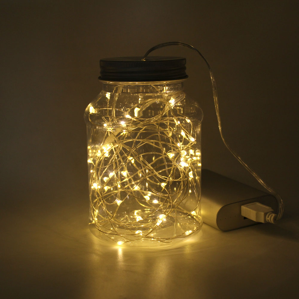LED String Lights 2M - 10M USB Operated Copper Silver Wire Fairy Garland For New Year Christmas Indoor Wedding Home Decoration