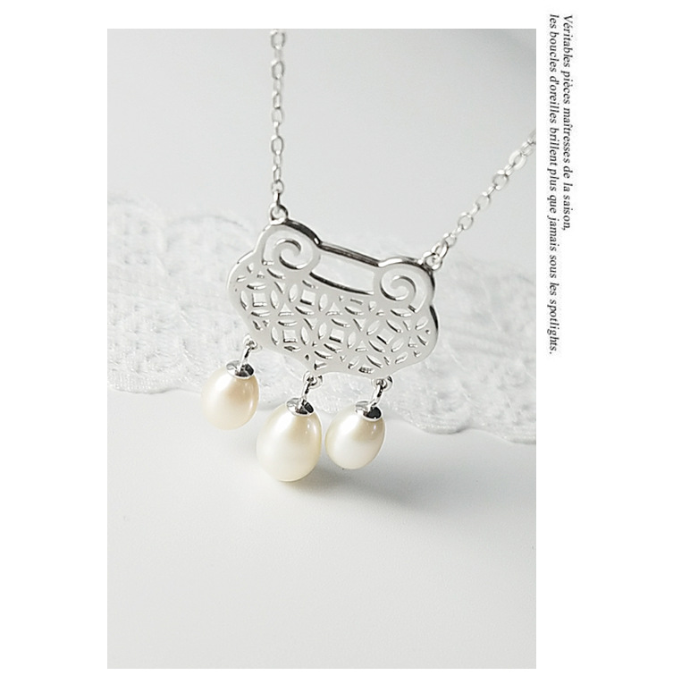 COP29 Femmes beaux bijoux, style national longévité collier de verrouillage, belle perle penadnt comme un cadeau pour votre famille