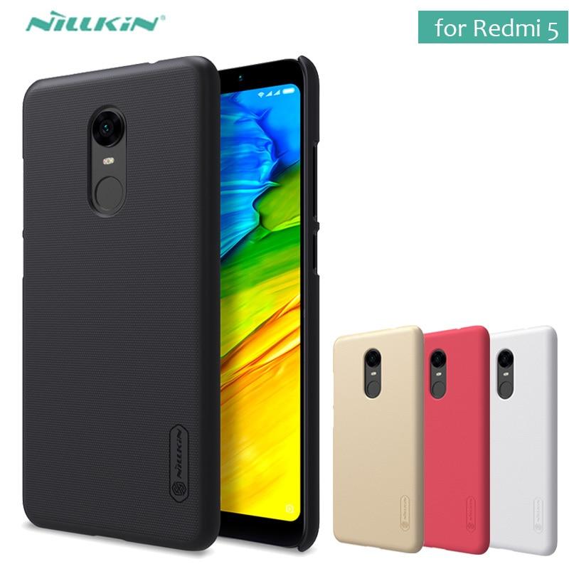 Pour Xiaomi Redmi 5 Cas Nillkin Super Givré Bouclier Dur PC Cas de Couverture arrière pour Redmi 4 Pro 5 Plus Nilkin Cas + Écran protecteur