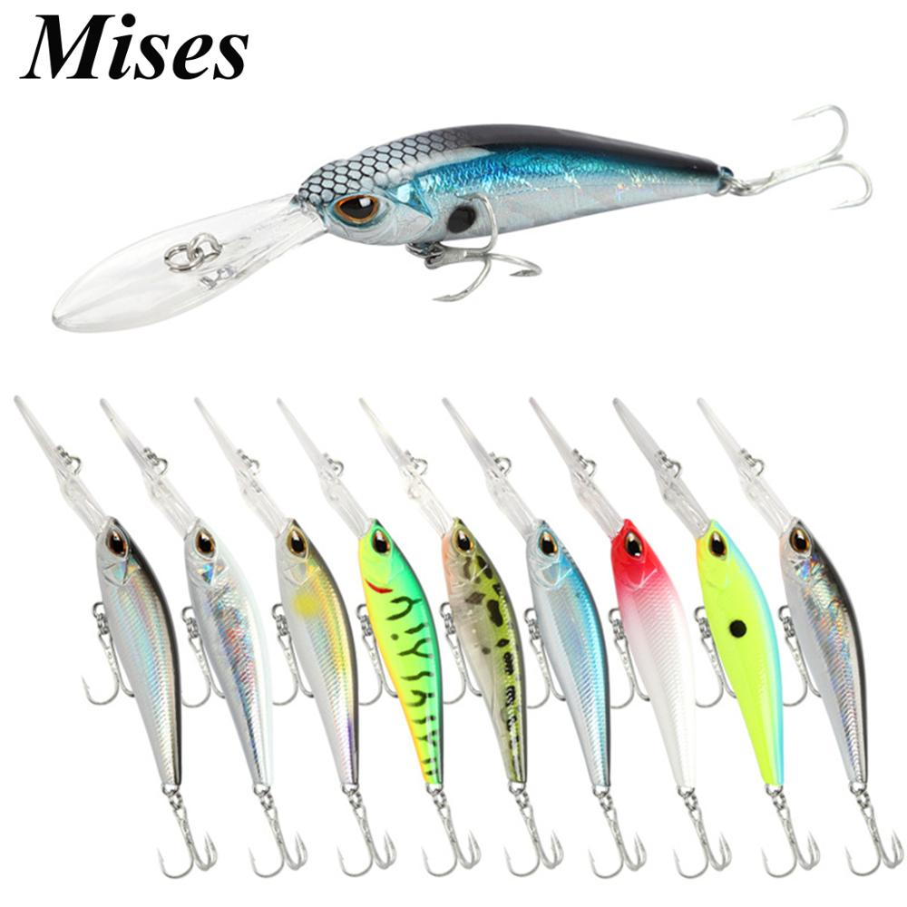 Mises 6cm 6g Ten Colors Long Lip Deep Diving Floating Bionic Minnow Lure Artificial Bait Hard Bait Fishing Lure Fishing Tackles