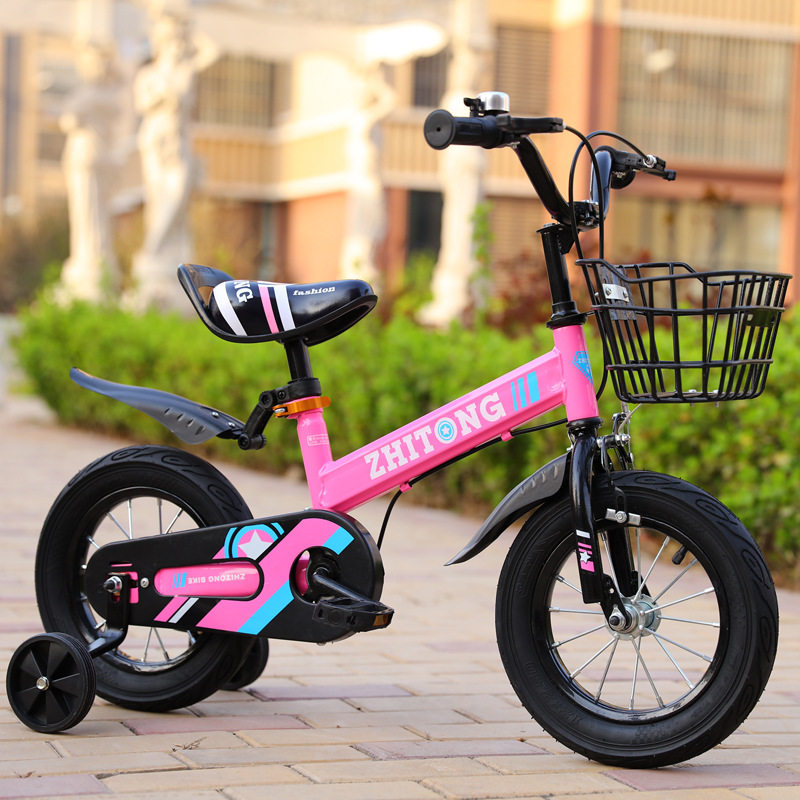 HTB1sFi2a3mH3KVjSZKzq6z2OXXaI 2-4 years old boys and girls 14 inch bicycle multicolor variety style kids gifts steel material lightweight bicycle toy