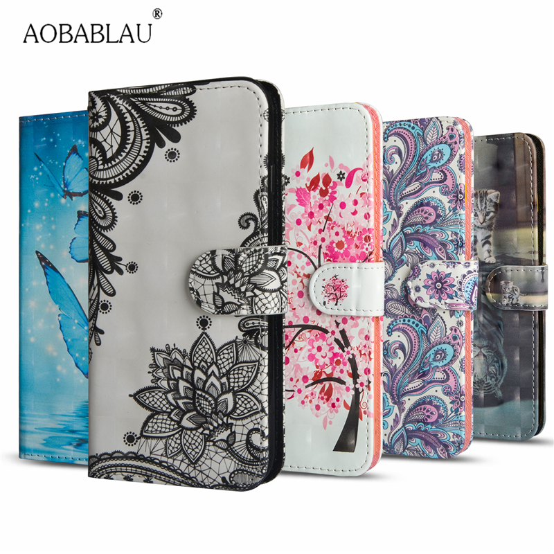 AOBABLAU Wallet Flip Cover For Apple iPhone 7 8 Painted Stand PU Leather Fundas For Apple iPhone 7 8 Case Phone