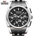 Haiqin original famosa marca homens de negócios dos homens relógio de quartzo luminosa assistir à prova d' água relógios relógio de pulso de aço inoxidável