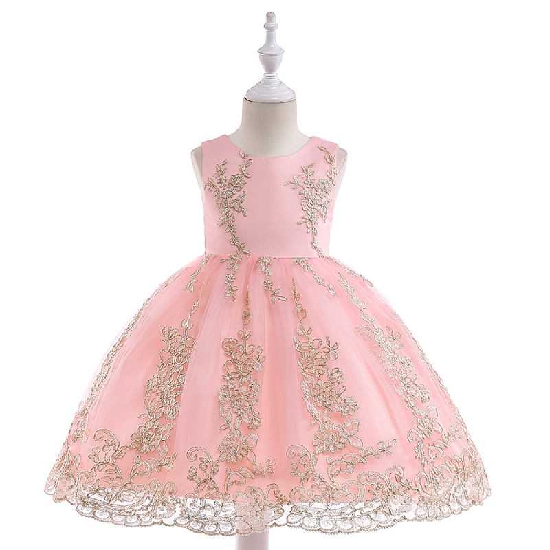 Kids Tulle princess   Dress   for   Girls   Embroidery Ball Gown Baby   Flower     Girl     Dresses   for Wedding Party Costumes Christmas clothing