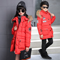 Kids boys and girls winter padded jacket 2016 new baby boys and girls fashion clothing big virgin coat 6/7/8/9/10/11/12/13 years