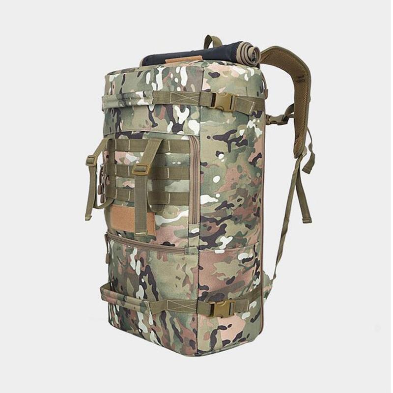 Sac d'alpinisme extérieur 60L camping sac à dos hommes femmes randonnée sac à dos camouflage tactique escalade sac à dos multifonction