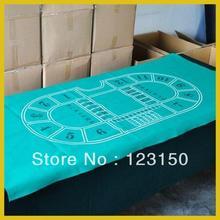 ZB-010 Нетканая ткань Texas Holdem Скатерть 90*180 см зеленая войлочная ткань