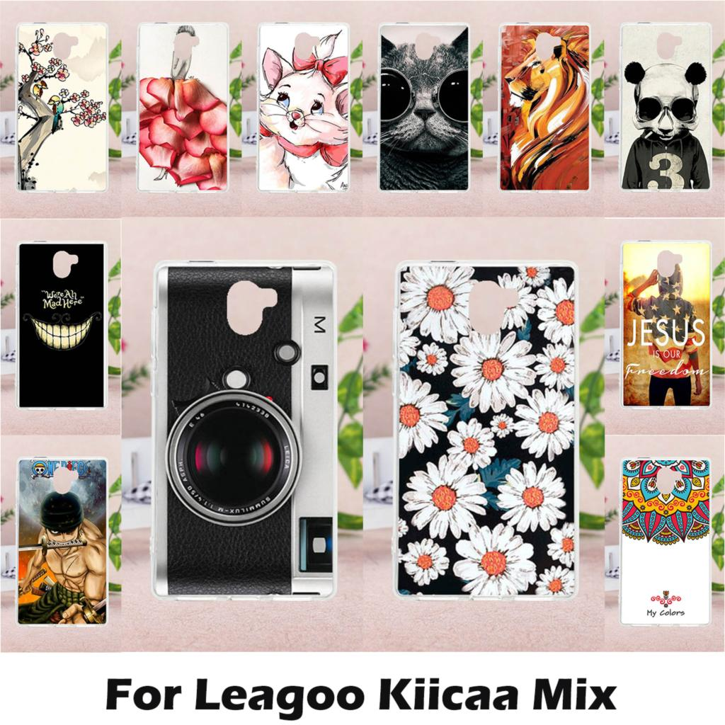 TAOYUNXI Case Soft TPU DIY Painted for LEAGOO KIICAA Mix 5.5 inch Case Cover Silicon for LEAGOO KIICAA Mix Protective Case