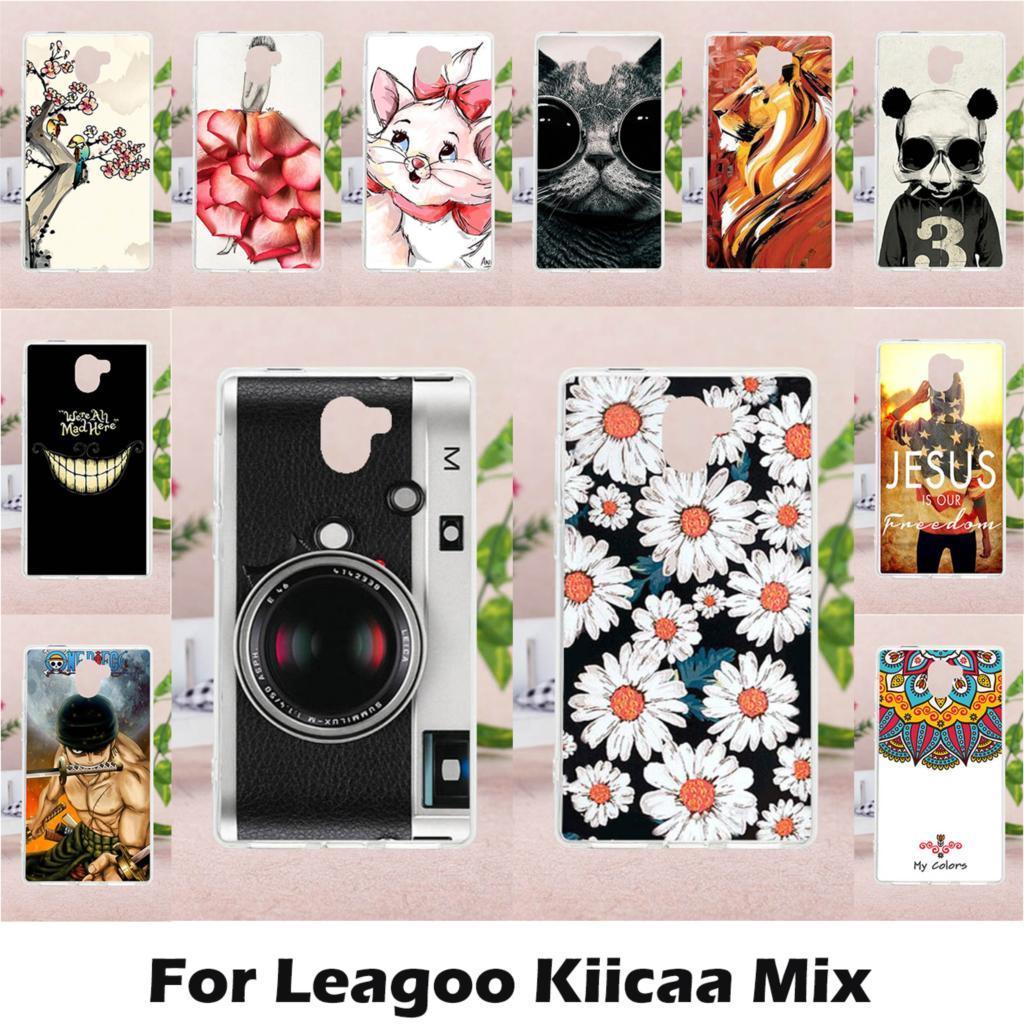 TAOYUNXI Case Soft TPU DIY Painted for LEAGOO KIICAA Mix 5.5 inch Case Cover Silicon for LEAGOO KIICAA Mix Protective Case