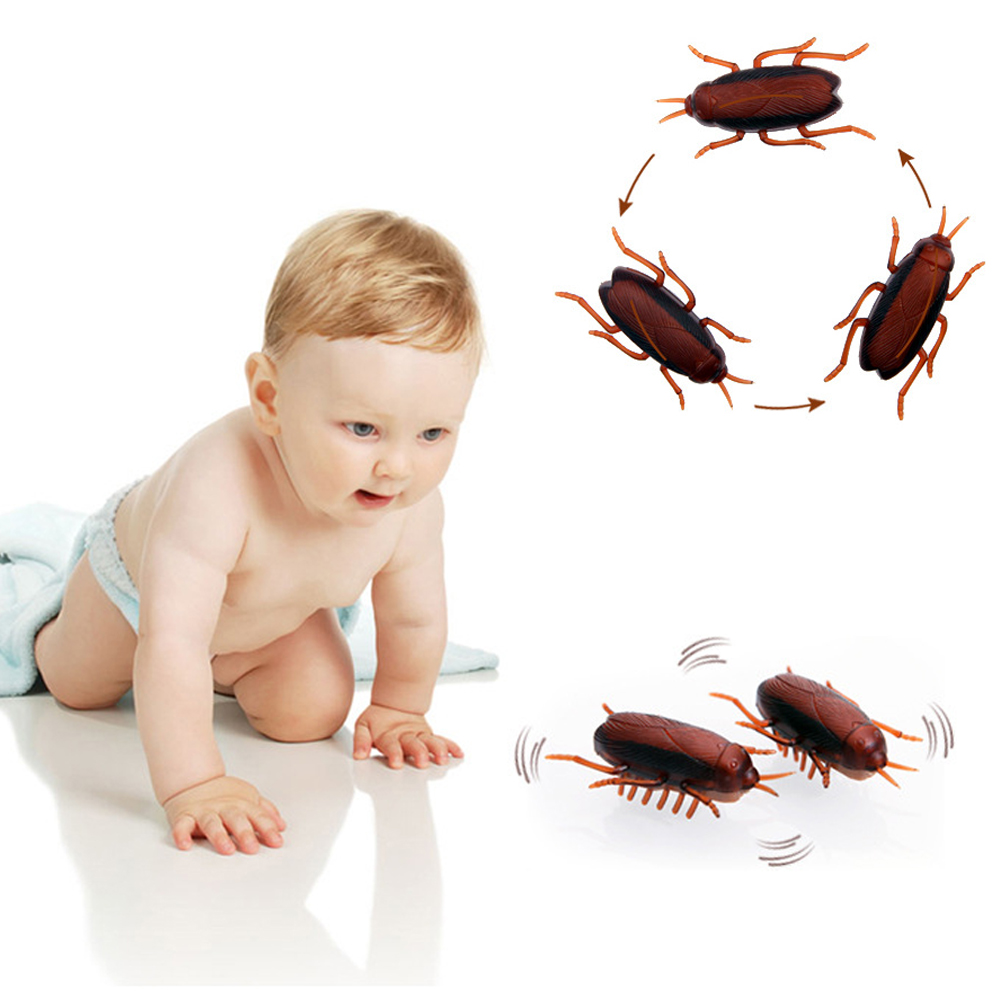 2018 Brand New Baby Toys Electric Cockroach Toy with Button Batteries Funny Pretend Play Toys for