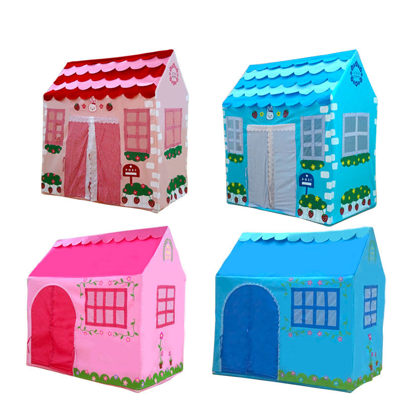 Indoor outdoor catoon colorful cloth castle House tent child park picnic holiday game play tent baby toy gift Play house toys