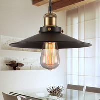 American vintage pendant lights metal lamp holder tungsten light bulb industry pendant lamps bronze color