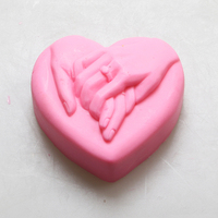 Love Heart Hand In Hand Sugarcraft Cake Decorating Soap Candle Mold Lovers Wedding Party Decoration Silicone