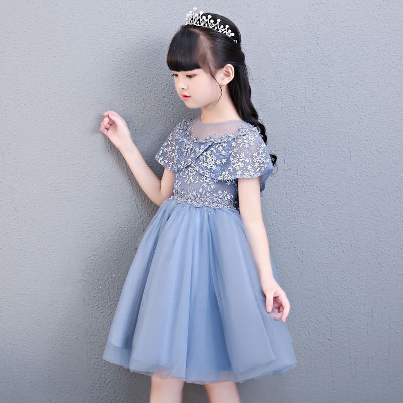 Summer New Children Girls Wedding Birthday Party Formal Gown for Teen Lace Princess Dresses Clothing Luxurious Kids Dress 3-15Y 2016 new item girls summer dresses bowknot children lace wedding dresses baby clothing sleeveless kids formal party dress